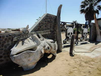 The Skeleton Coast Park entrance.