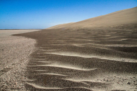 This is the sharp edge of the dunes.