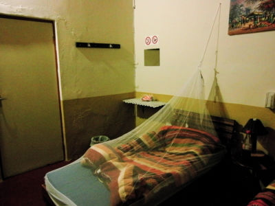 Luckily, I hade brought my mosquito net which came in handy.