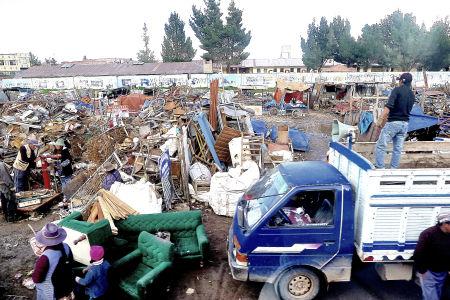 Scrap yard in Juliaca, Peru.