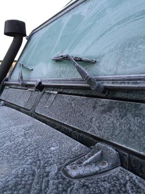 Frozen Land Rover Defender, Stockholm