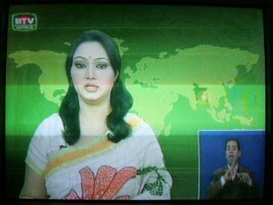 Tv-nyheter, textade fšr dšva.